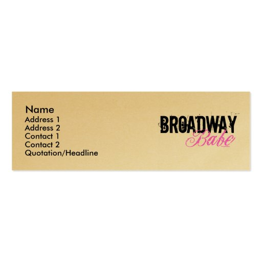 Broadway Babe Business Card Templates