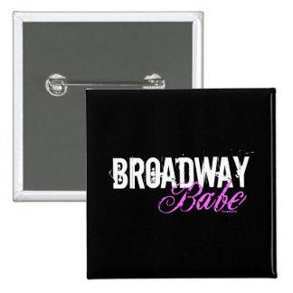 Broadway Babe Pinback Button