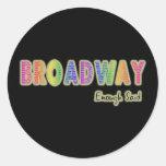 Broadway bastante dijo a los pegatinas etiqueta redonda