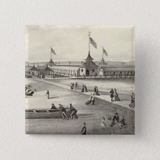 Broadway Bathing Ground, Ocean Grove, NJ Pinback Button