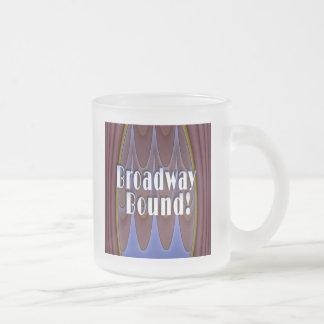 Broadway Bound! 10 Oz Frosted Glass Coffee Mug