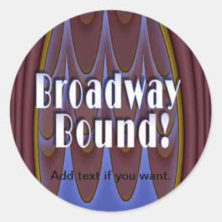 Broadway Bound! Classic Round Sticker
