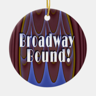 Broadway Bound! Double-Sided Ceramic Round Christmas Ornament