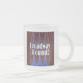 Broadway Bound! Frosted Glass Coffee Mug