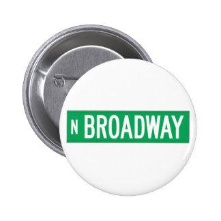 Broadway, Chicago, IL Street Sign 2 Inch Round Button
