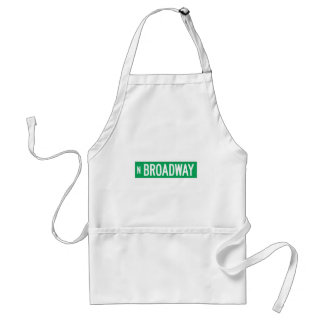 Broadway, Chicago, IL Street Sign Adult Apron