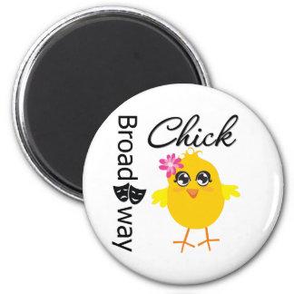 Broadway Chick 2 Inch Round Magnet