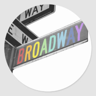 Broadway Classic Round Sticker