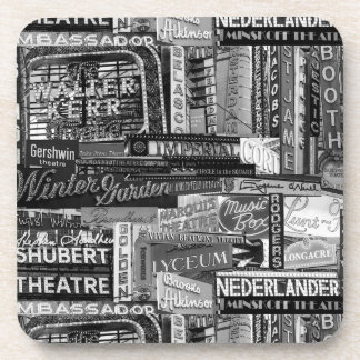 Broadway Coasters (set of 6) in B&W