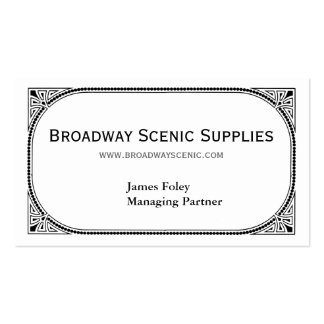 Broadway Double-Sided Standard Business Cards (Pack Of 100)