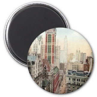 Broadway Downtown NYC Vintage 1913 Magnet