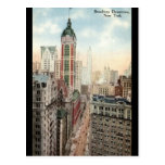 Broadway Downtown NYC Vintage 1913 Post Card