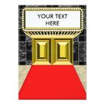 """Broadway enciende la parte posterior adaptable del invitación 5"""" x 7"""""""