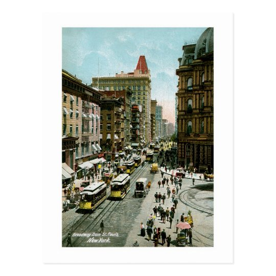 Broadway from St. Pauls, New York Postcard