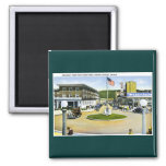 Broadway from Trail's End Turn-A-Round, Seaside,OR 2 Inch Square Magnet