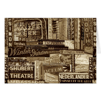 Broadway Greeting Card (Sepia)