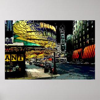 Broadway - impresión póster