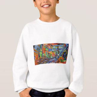 Broadway in the Rain Oil Painting Sweatshirt