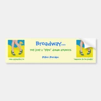 broadway legs car bumper sticker