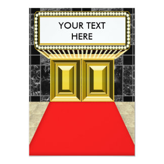 Broadway Lights Marquee Customizable Blank Back Card