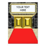 "Broadway Lights Marquee Customizable Blank Back 5"" X 7"" Invitation Card"