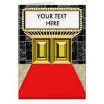Broadway Lights Marquee Customizable Blank Inside Greeting Card
