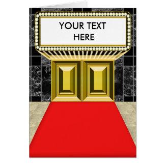 Broadway Lights Marquee Customizable Blank Inside Card