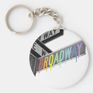 Broadway Llavero Redondo Tipo Pin