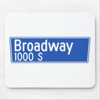 Broadway, Los Ángeles, placa de calle de CA Alfombrillas De Raton