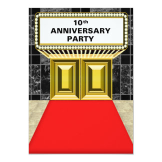 Broadway Marquee Red Carpet 10 th Anniversary Card