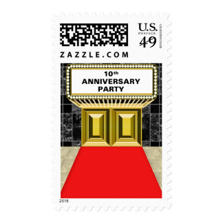 Broadway Marquee Red Carpet 10 th Anniversary Stamp