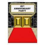Broadway Marquee Red Carpet 20 th Anniversary Cards