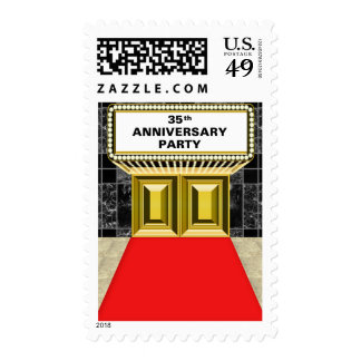 Broadway Marquee Red Carpet 35 th Anniversary Postage Stamp
