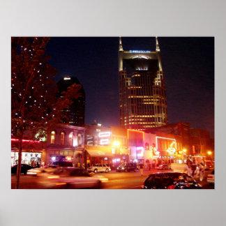 Broadway - Nashville, Tennessee Poster
