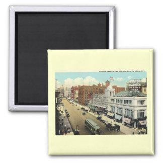 Broadway, New York City Vintage Magnet