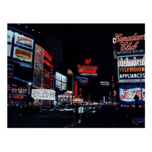 Broadway, New York City Vintage Postcard