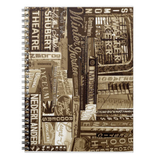 Broadway Notebook (Sepia)
