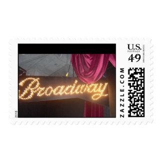 Broadway Postage Stamp