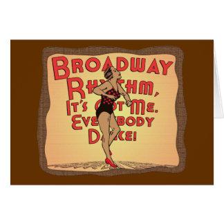 Broadway Rhythm Card