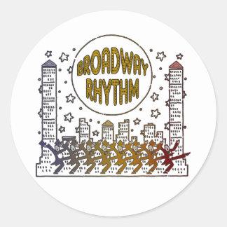 Broadway Rhythm Stickers