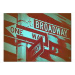 Broadway Sign 5x7 Paper Invitation Card