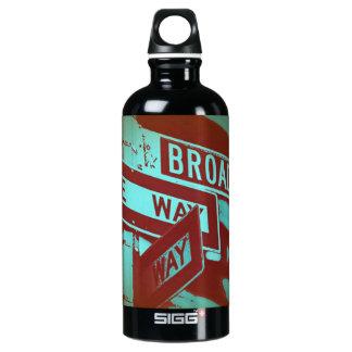 Broadway Sign Aluminum Water Bottle