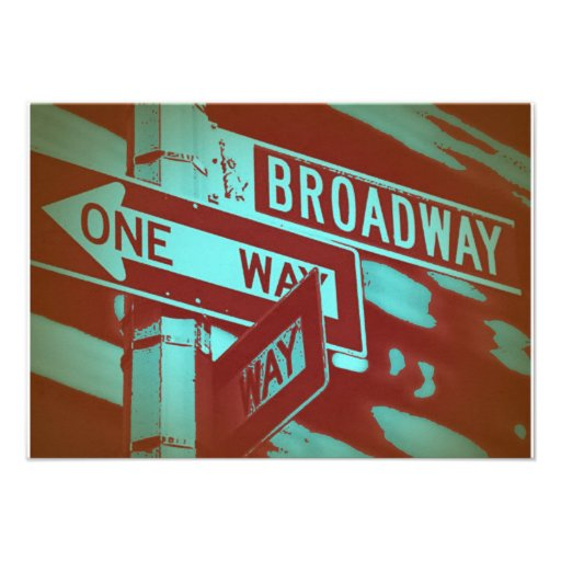 Broadway Sign Custom Announcements