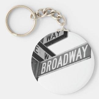 Broadway Sign Keychain