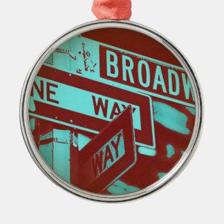 Broadway Sign Metal Ornament