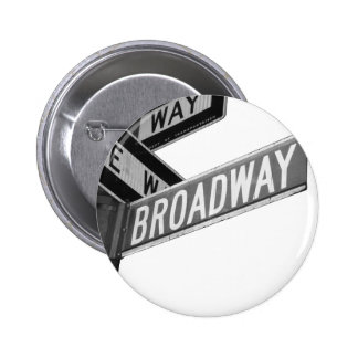 Broadway Sign Pinback Button