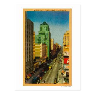 Broadway Street in Los Angeles, CA Postcard