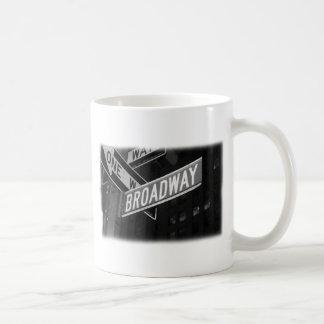 Broadway Street Sign Classic White Coffee Mug