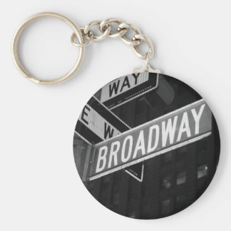 Broadway Street Sign Keychain