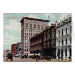 Broadway Street Vintage Greeting Card